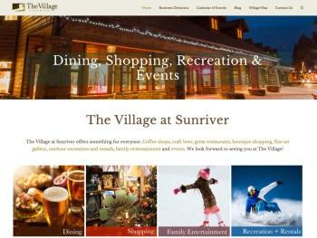 Website Design Village at Sunriver